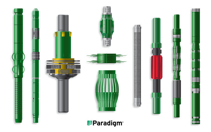 drilling tools 3d illustration
