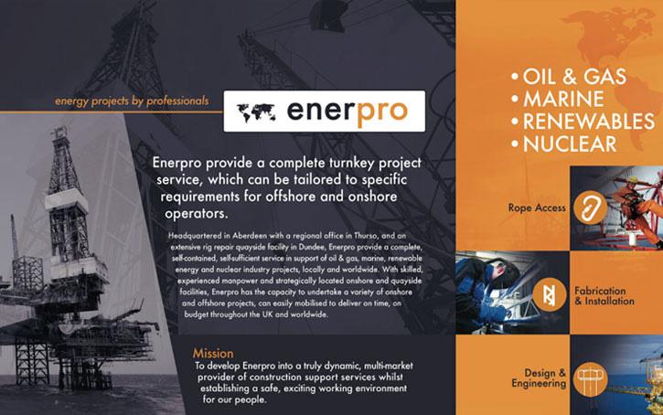 Enerpro brochure branding