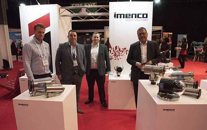 Imenco stand and staff