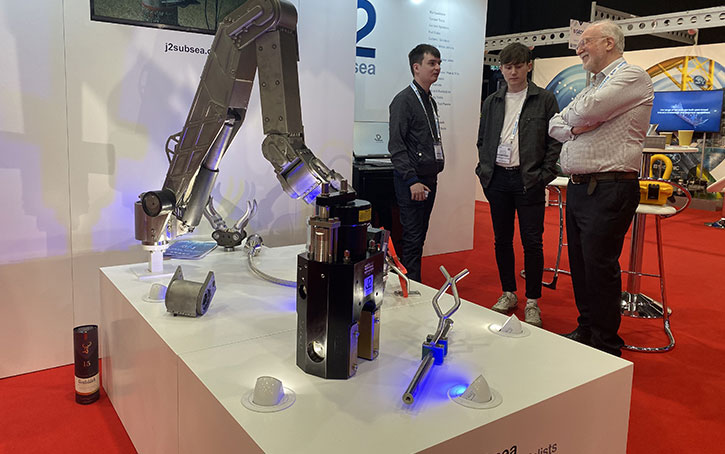exhibition J2 subsea products on plinths