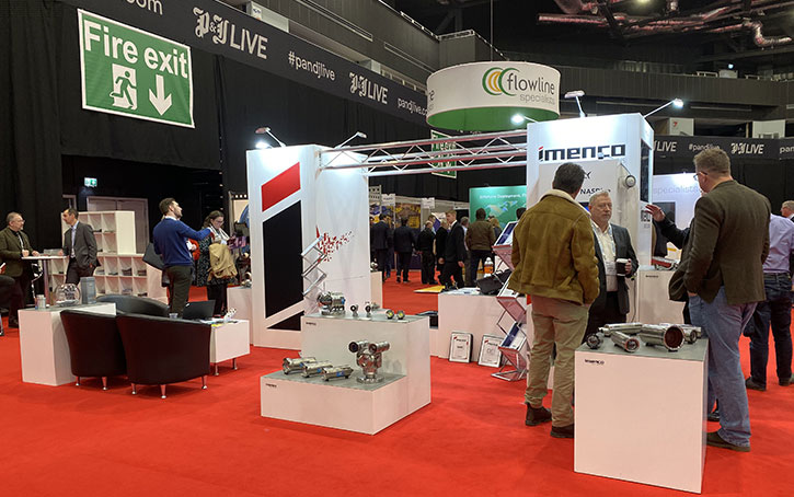 exhibition stand front view at Subsea Expo