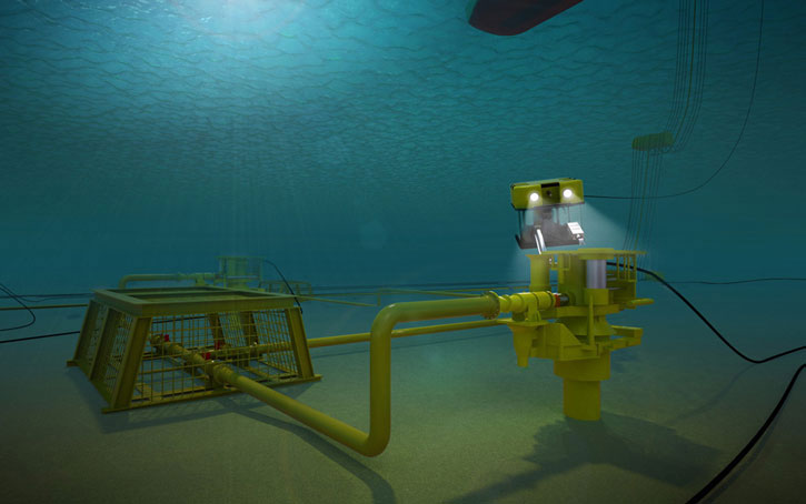 wellhead subsea illustration