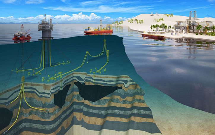 oil and gas 3d illustration