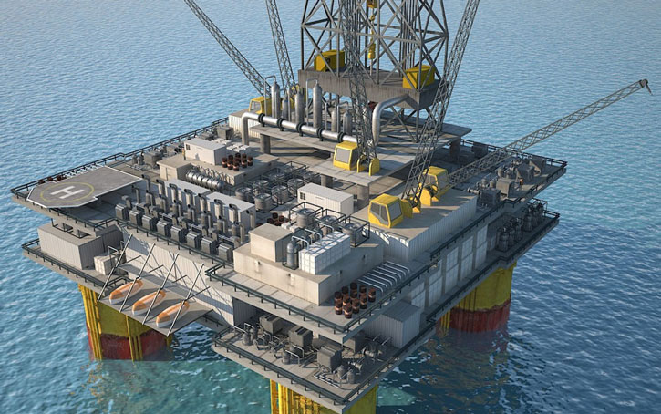 oil rig 3d illustration