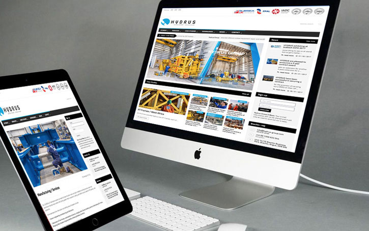 ipad and computer with website design