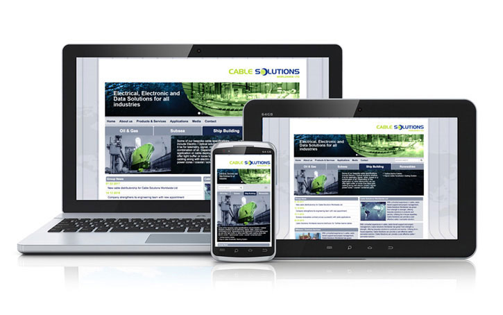 cable solutions website design