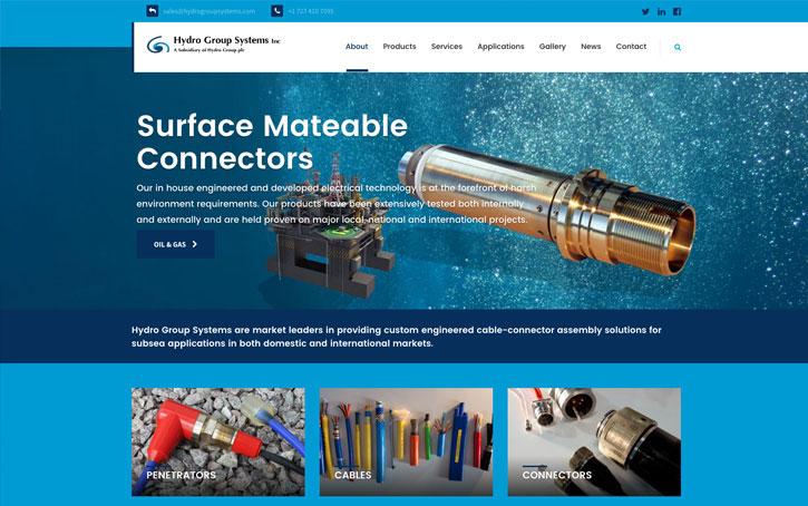 web page design Hydro Group Plc