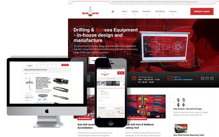 sub-drill Ltd website concept