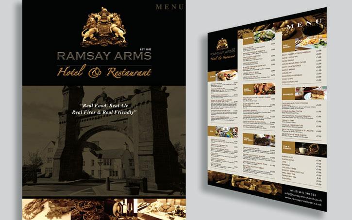 Printing of menus